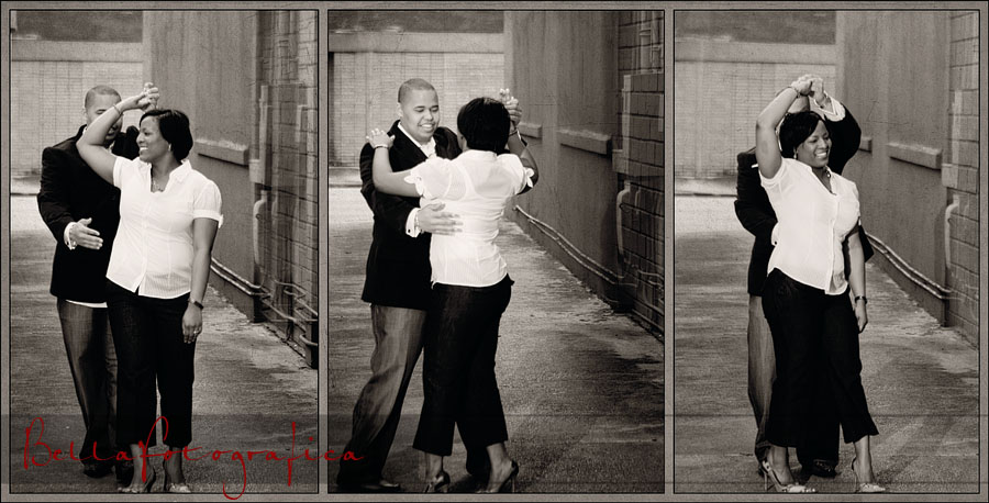 alley dancing engagement