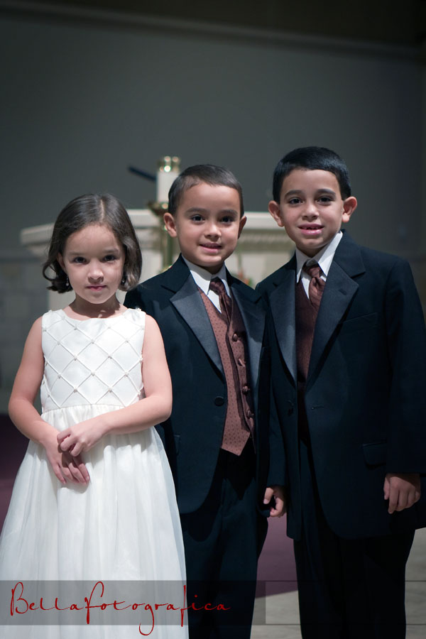 flower girl and ringbearers