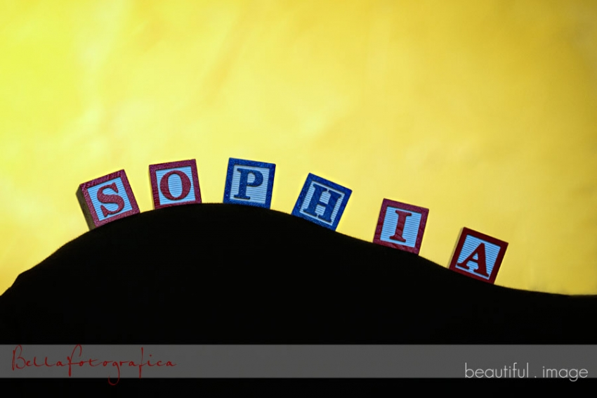 sophias name in blocks