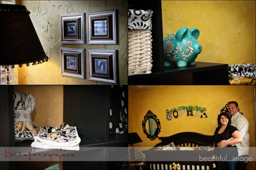 yellow and black babys room