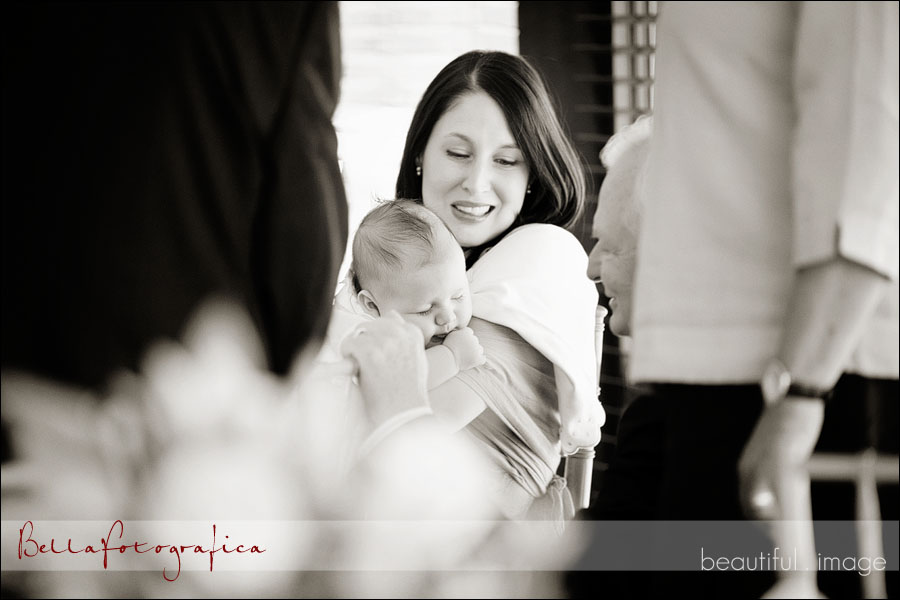 sleeping baby in mothers arms