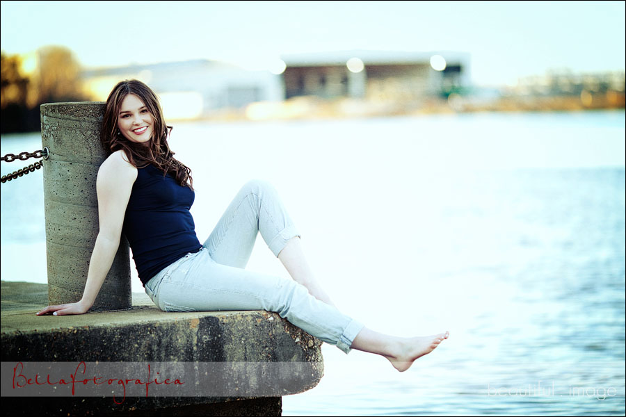 senior pictures by the river