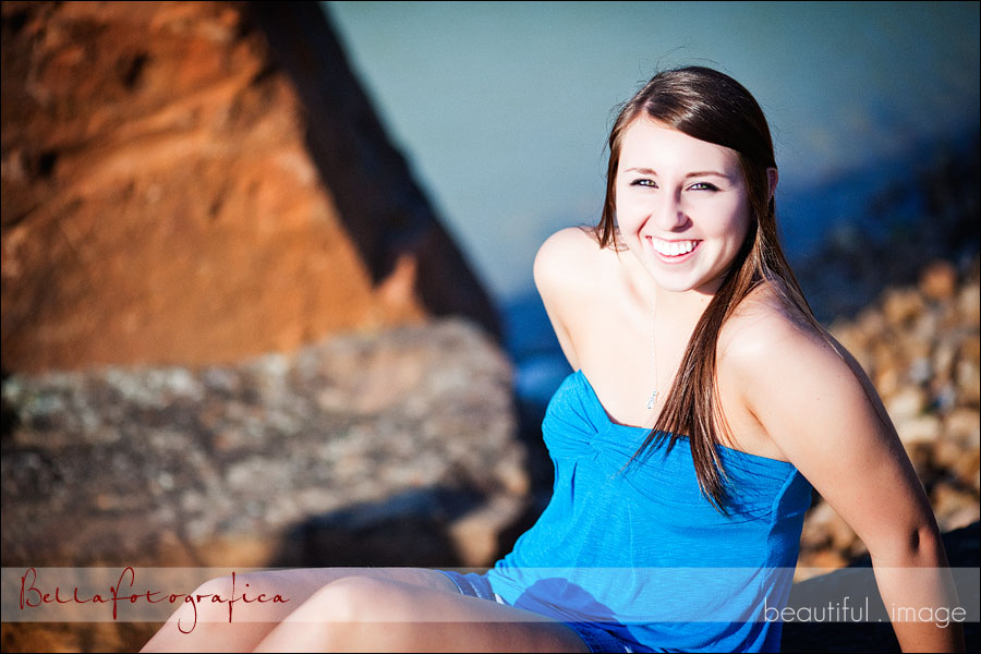 senior photos by water
