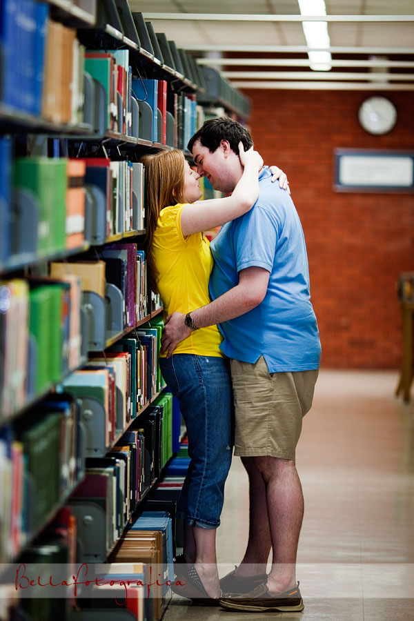 making out in the library