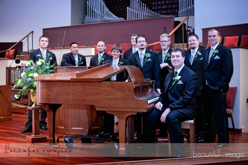 groom and his men in sanctuary