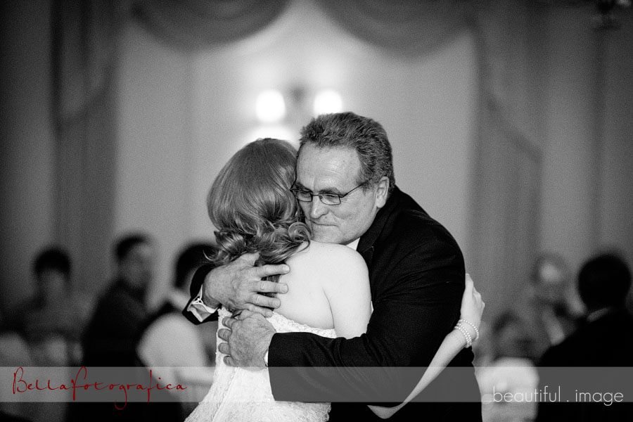 bride and her dad dance at reception