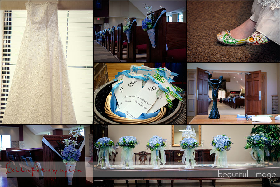 photo of wedding details