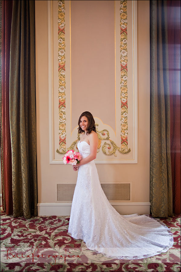 bride portrait in Julie Rogers Theater