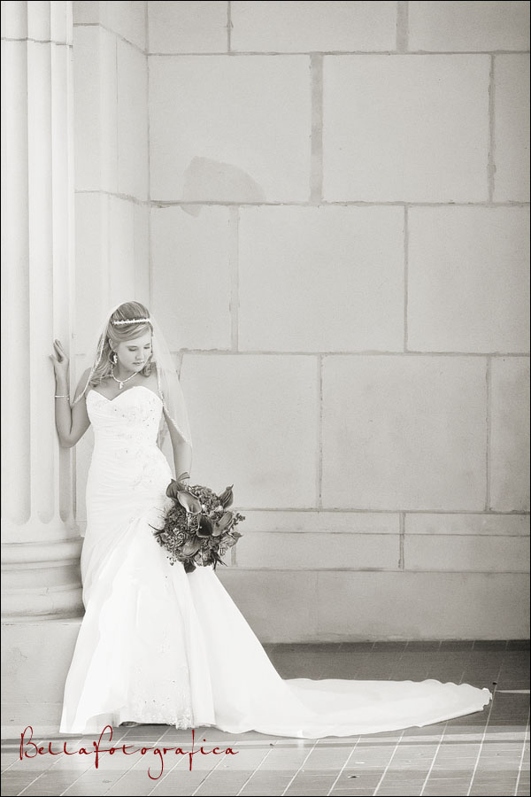 black and white bridal images