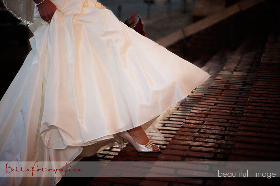 bridal portraits on stairs