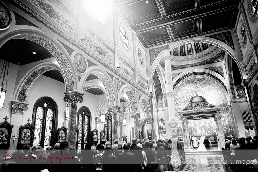 beaumont wedding at st anthony cathedral basilica