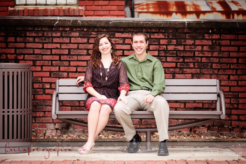 Engagement Photo Downtown Lake Charles