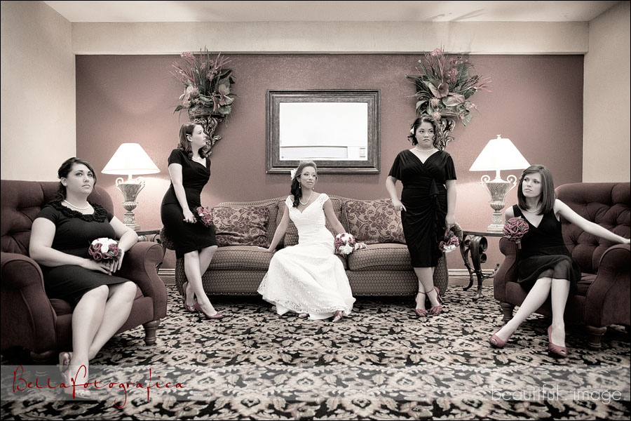 bridesmaids version of the hills pose
