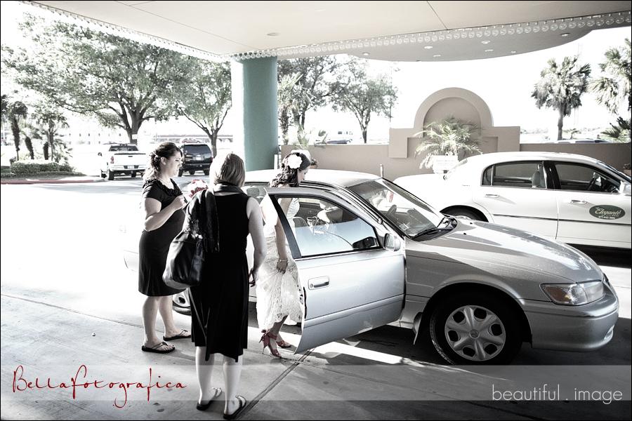 bride headed to church