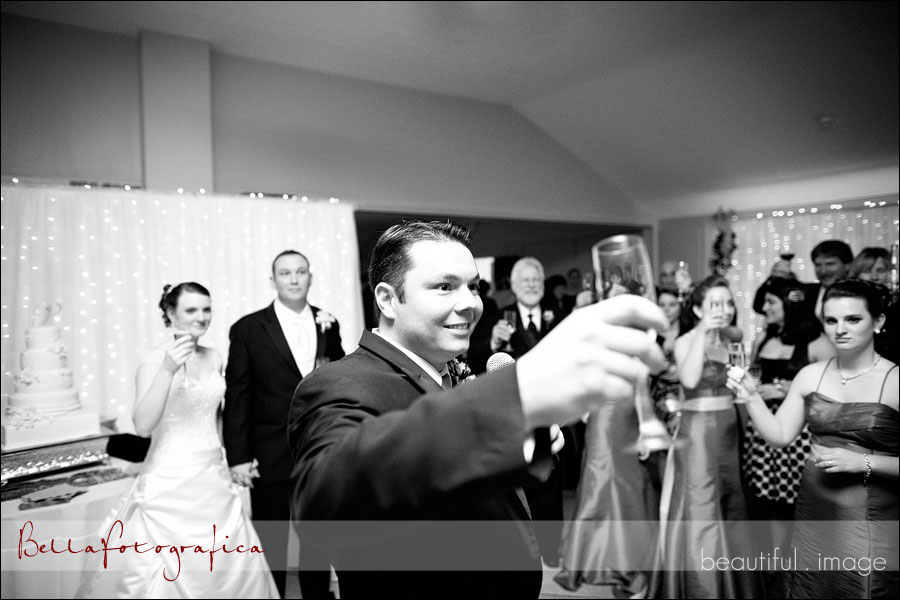 best man toast at reception