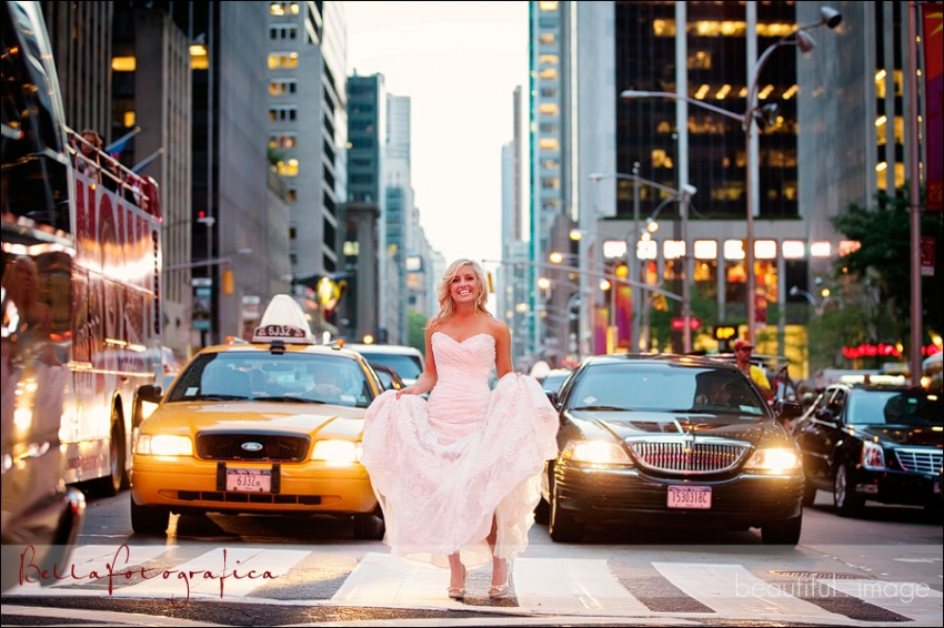 texas bride stopping traffic in manhattan