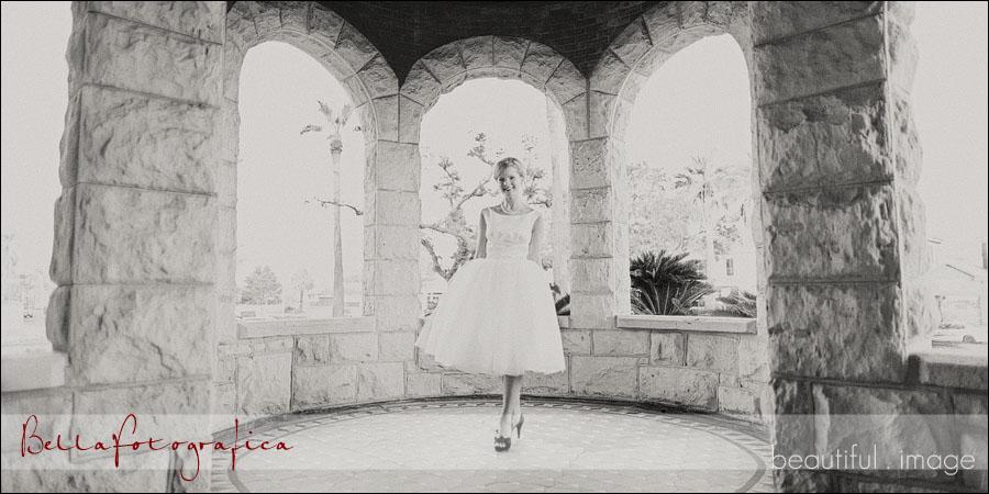 bride at moody mansion
