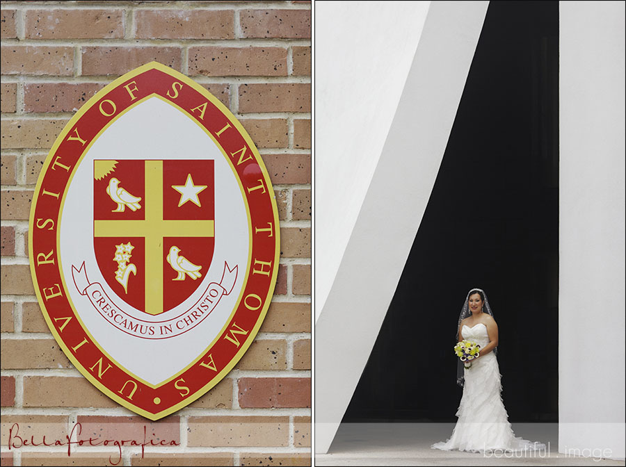 bridal photos at st thomas university