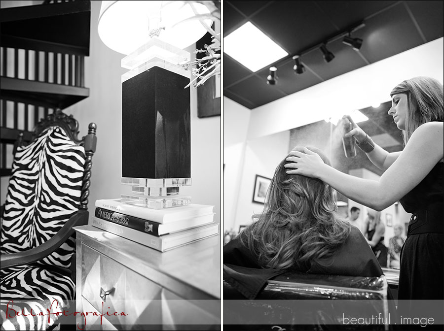 bride getting ready at salon mecca