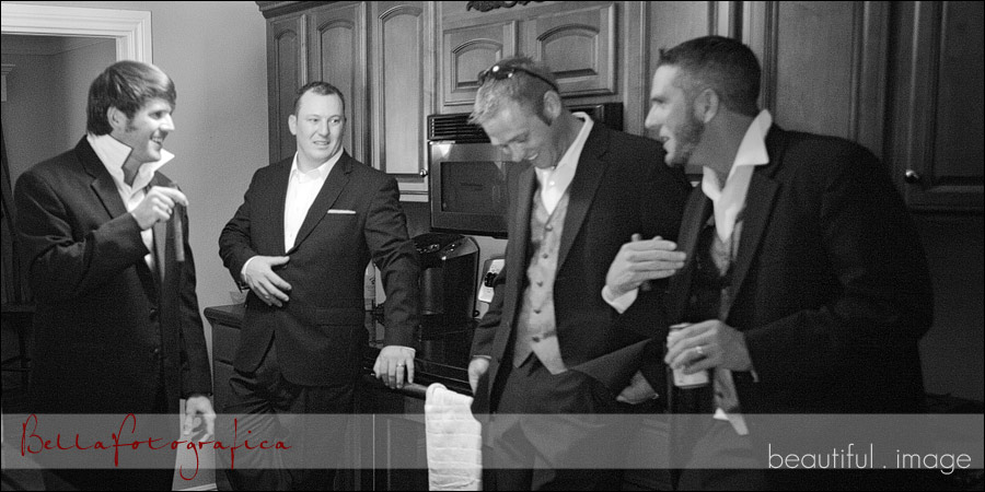 groom getting ready with his best men