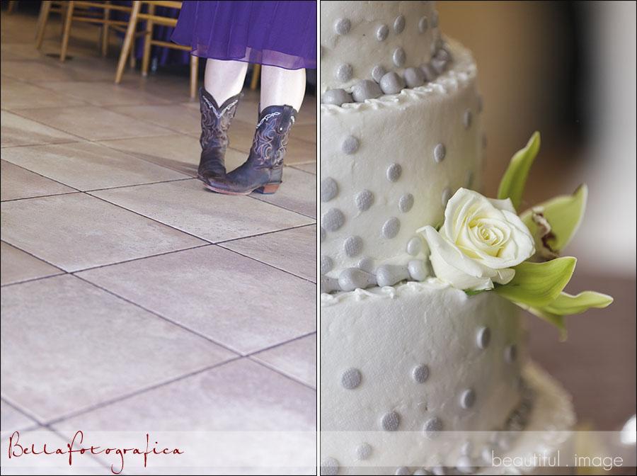 bridesmaid wearing boots