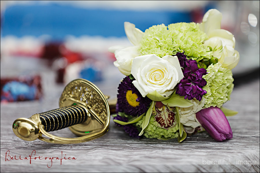 marine wedding reception