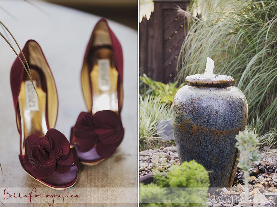 maroon wedding shoes