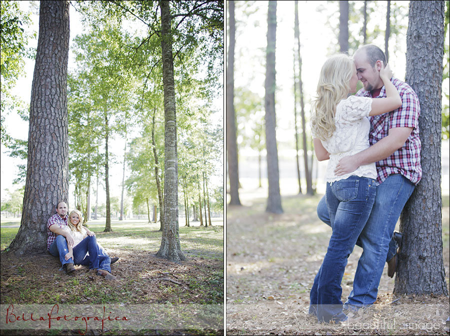beaumont outdoor engagement photos