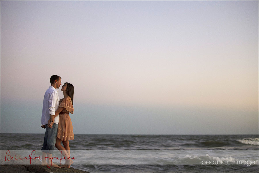 galveston engagement photos on the jettys
