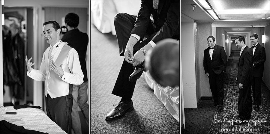 groom getting ready at mcm elegante hotel beaumont