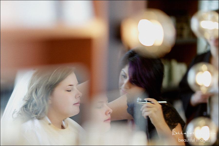 bride at onstage hair salon