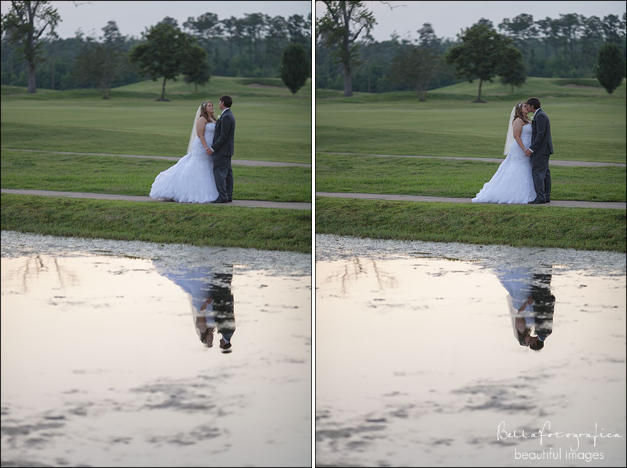 wedding portraits at the beaumont country club golf course