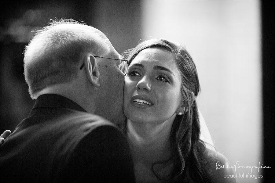 dad kissing the bride