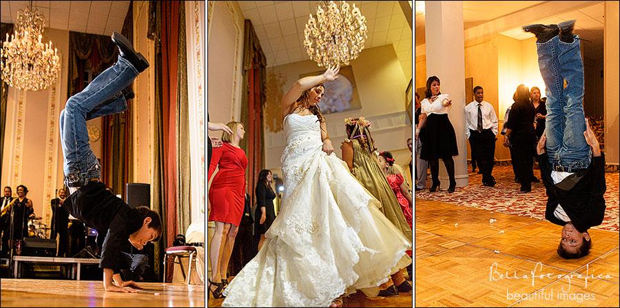 bride and groom wedding reception dancing