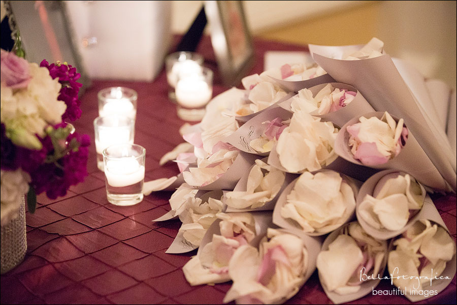 rose petals for throwing on the bride and groom