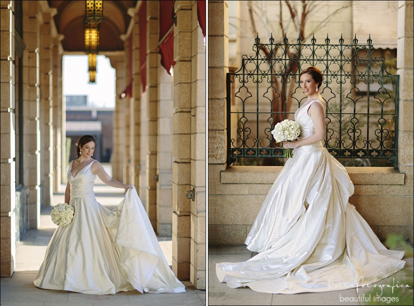 bridal portraits near the mildred building Beaumont Texas