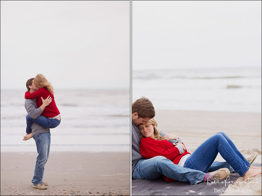 engagement photos on the beach crystal beach texas