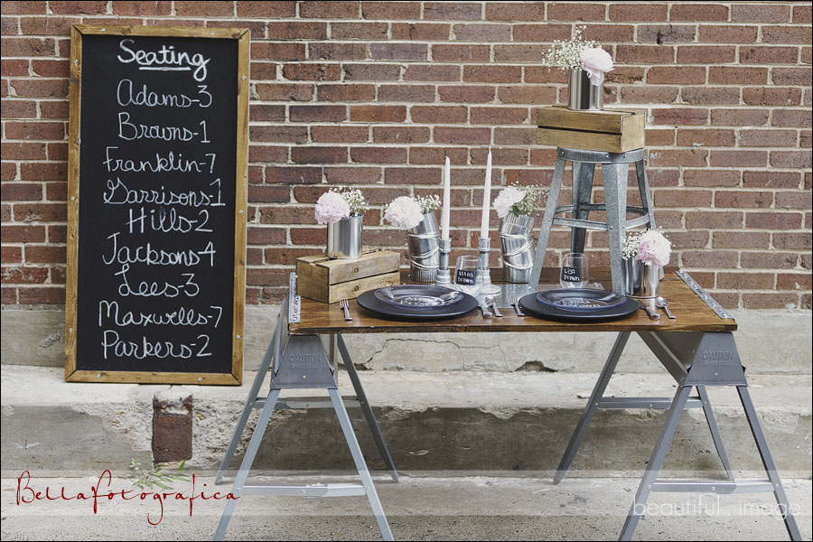 industrial wedding reception decor