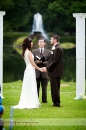 Saying I Do in outdoor ceremony at the Brown Center