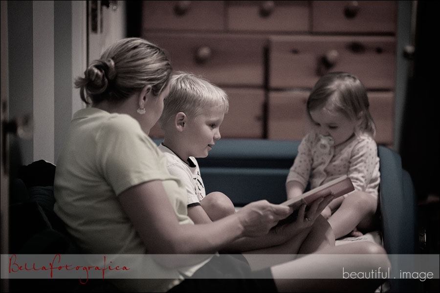 family bible story time