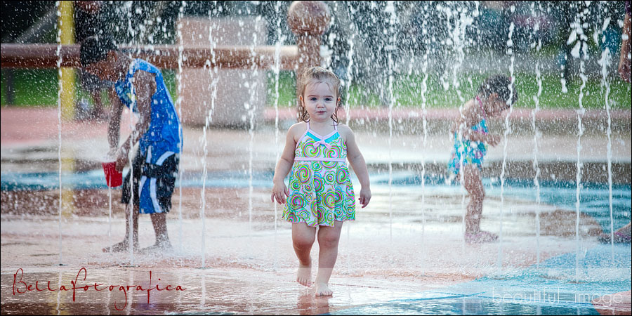 little girl at port neches waterpark